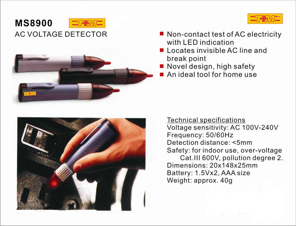 Voltage Detectors And Testers Tmi Led Light Pocket Detector Tester Non Contact Leds Clearly Indicate 8 Ac